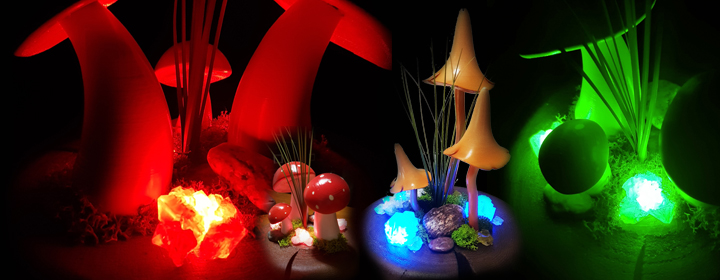 MUSHROOM CRYSTAL LIGHT